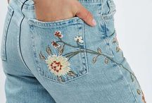 A.Embroidered Denim