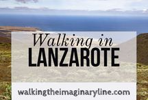 Walking in Lanzarote / Lanzarote Canary Islands. Canarias