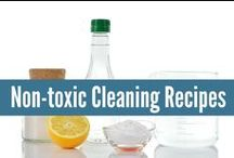 ✓ Clean House ✓ / Non-toxic Cleaning Recipes for a clean home that is also safe and healthy. Especially important for families with young children! DIY recipes. realfoodrn.com #diy