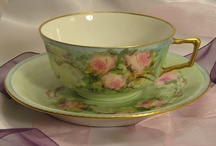 Vintage cup and saucers / Nothing tastes better than coffee or tea in a beautiful antique china  cup. / by Linda Freeman