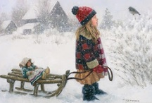 Winter Wonderland / Nothing speaks more to me than a warm cozy fire, the aroma of apple pie baking in the oven and a covering of new fallen snow. / by Linda Freeman