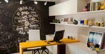 Meu escritório / Pequenos, médios e grandes. Em casa, no centro da cidade ou num espaço coworking. Se passamos a maior parte do nosso dia trabalhando, precisamos tornar esse ambiente inspirador. :p