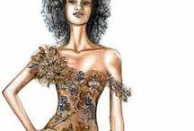 Women's fashion drawings