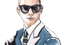 Man's fashion drawings