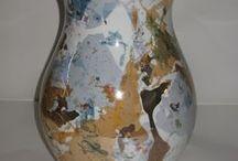 """Creazioni """"Fuoco e colore"""" / Creazioni originali con le tecniche del terzo fuoco su porcellana e ceramica"""