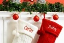 Christmas Stockings over the fireplace / by MerryStockings .com