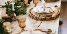 table decoration / beautiful, seasonal table decoration