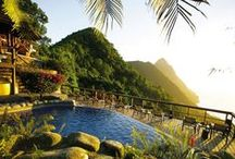 Saint Lucia / There's a real spirit of romance about Saint Lucia. Wherever you go, there's the beautiful backdrop of tropical mountain scenery, including the famous towering Pitons. Then there are fabulous beaches, stunning coral reefs  and over 18,000 acres of rainforest, banana and coconut plantations waiting for you to explore. Call us on 020 7751 0660 to book your Saint Lucia holiday today.