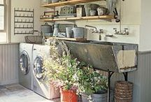 Decor: Laundry Rooms / Who said laundry spaces had to be boring and ugly? / by Angela Super