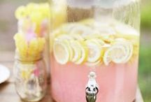 Rebecca's baby shower / Pink yellow gray baby shower ideas