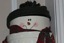 Snowmen / They are never sad ~ always smiling!!!! That's why I LOVE them!