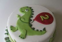 Ty will be 4 / Dinosaur Theme for Ty's birthday pool party