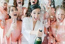 Team Bride / bridesmaids weddings ideas dresses bridal