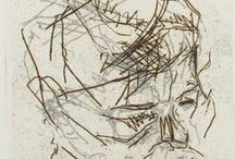 Frank Auerbach etchings