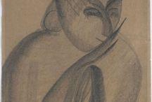 Constantin Brancusi drawings