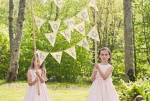 Vintage-inspired Flower girls