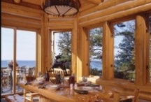Ashley's Log home / Ideas to have a bright, not gloomy lob cabin home.  / by Lisa Kramer-Murray