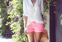 Spring and Summer Style / Wedges, bright colors, shorts, aviators, and beachy hair...I love summer style.