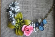 DIY brooch necklace inspiration   / by The Rich Life (on a budget)
