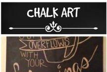 Chalk Art / White chalk on black board