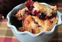 Cobblers and Crisps / Warm and comforting...the perfect dessert for cold nights and roaring fires.