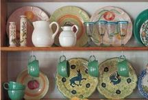 Pottery Displays / Ideas for displaying your stoneware pottery or ceramics at shows, fairs, events, etc.   Also, ideas for displaying your pottery and ceramic collections in your home.