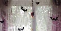 pastel goth bedroom/house