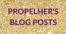 PropelHer's Blog Posts / Every Monday PropelHer releases some #MondayMotivation on the blog. Top tips to help you to be successful in life and business. Anyone can be successful if you commit and learn the keys to success.