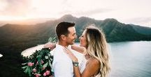 Hawaii Destination Wedding / Why plan a Hawaiian destination wedding? Try year-round gorgeous weather, world-class beaches and towering mountains  with majestic lush nature to backdrop your special day?