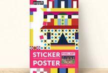 POPPIK exclusive designs / Voici nos posters en stickers, imaginés pour nous par des artistes français.