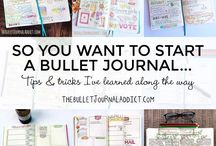 Bullet Journalling / Your Bullet Journal is a combination of planner, notebook, record of events, list maker, tracker, and whatever else you want to make it.