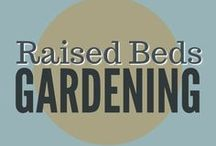 Gardening || Raised Beds / Growing food in raised garden beds, rock garden, cold frame, straw bales for frost protection, straw bale gardening