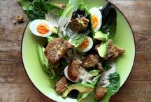 Salad Recipes / Vegetarain salads don't have to be dull. From veggie salad Nicoise with soft boiled eggs to squeaky halloumi salad with homemade honey and mustard dressing. You'll be spoilt for choice with these healthy and filling salads for all seasons.