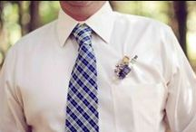 BOUTONNIERES / Groom and groomsmen boutonnieres / by Emmaline Bride | Handmade Wedding Blog