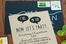 WEDDING INVITATIONS / Handmade wedding invitations / by Emmaline Bride | Handmade Wedding Blog
