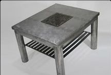 Custom Tables / Custom steel tables - end tables, coffee tables, console tables, dining room tables, desks - for any room in your house. Let me know if you see anything you  like! www.riggodesign.com