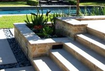 Planter Boxes, Flower Beds & Walls / A collection of images to be used as inspiration for brick paver planter boxes, retaining walls & borders to flower beds.