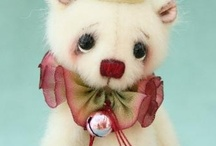 Miniatures Wood & Stuffed! / I have been collecting hand made Miniature Bears from around the world for over 25 years...   I have over 300 in my collection.  I admire the work of all these artisans.... / by Wendy Morris