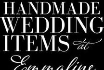 Handmade Wedding Items   Emmaline Bride - The Marketplace / Handmade wedding products + items handpicked by our team from The Marketplace. / by Emmaline Bride   Handmade Wedding Blog