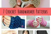 Knitted & Crochet Fingerless Gloves, Wrist Warmers, Cuffs / Crocheted and Knitted Stuff to keep your hands & wrists warm / by JoAnn Snow
