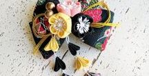 Accessories for Yukatas and Kimonos / A collection of handmade Japanese-style accessories that will go perfectly with a yukata or kimono