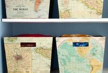 Maptastic / Show your love of travel off by displaying maps of your favorite destinations in surprising ways.