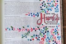 Bible Journaling / A combination of Bible journaling ideas, example pages, and tutorials for the beginner.  Encouragement and inspirations for spending time in the Word of God. Bible journal ideas, tips and how to journals posts. Lessons on making Bible study fun.