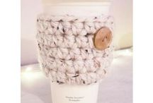 Crochet Coffee Cozy / Who doesn't love Crocheted Coffee Cozies? They are quick and easy projects that add a smile to your daily cup of joy.
