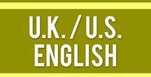 """UK English vs. US English / Is it """"crisps"""" or """"chips""""? """"Pants"""" or """"trousers""""? A """"truck"""" or a """"lorrie""""? Well, it depends where in the world you are! Learn the UK & USA vocabulary on this board."""