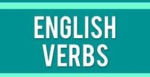 English Verbs / English verbs & phrasal verbs in cheetsheets and worksheets to help English teachers in their ESL classrooms