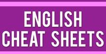 VuLingo English | Cheat Sheets / Do you have trouble understanding English grammar & vocabulary? Download one of our cheat sheets and never make a mistake again!