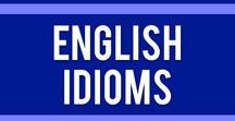 English Idioms / English idoms are a great way to sound more like a native English speaker. Use these cheat sheets and worksheets in your ESL/EFL/ELL classroom.