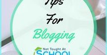 Tips for blogging / This tips for blogging board shares the best ways to get your blog noticed, from getting started, groups you can join to share your blog,guides to help build your blog and much more.