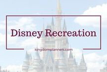 Disney Recreation Fun / Disney has so much more to offer than just the awesome parks... find out what else there is to do!  We love everything about Disney -  Walt Disney World, Disneyland, Disney Cruise Line, Aulani, Adventures By Disney, Authorized Disney Vacation Planner, Earmarked, Disney Travel Agent, Disney Travel Agency, Disney Travel, Disney Vacation, Disney Tips, Disney Food, Magic Kingdom, Epcot, Animal Kingdom, Hollywood Studios, California Adventure, Disney Magic, Disney Dream, Disney Fantasy, Disney Wonder